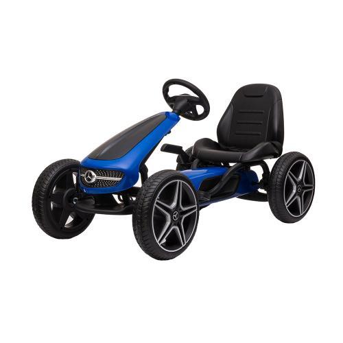 Kart cu pedale si roti din cauciuc EVA Mercedes-Benz Blue - La plimbare - Karturi