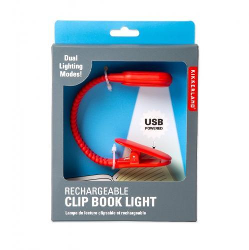 Lampa de citit cu USB - Noriel Impulse - Rosu - Home deco -