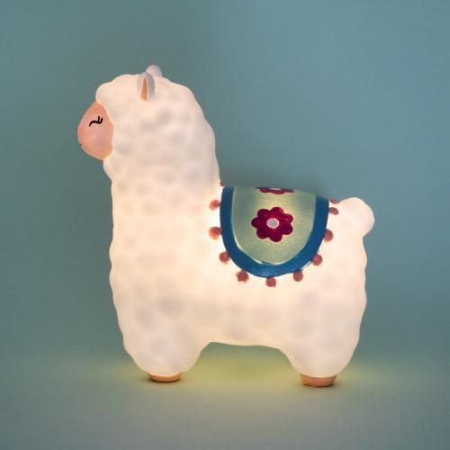 Lampa de veghe Led cu baterii Little Llama - Camera copilului - Carusele muzicale