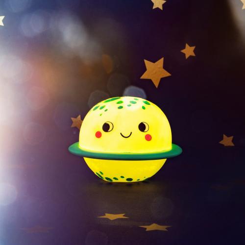 Lampa de veghe Led cu baterii Planet - Camera copilului - Carusele muzicale