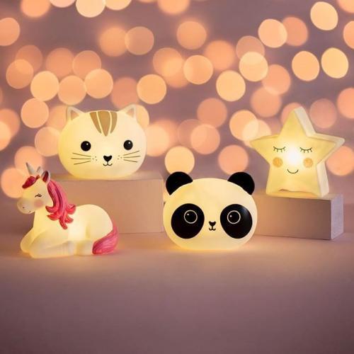 Lampa de veghe Led cu baterii Rainbow Unicorn - Camera copilului - Carusele muzicale