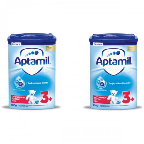 Lapte praf Aptamil Junior 3+ - 2 pachete x 800 g - Alimentatia bebelusului - Lapte praf bebelusi