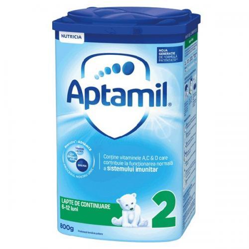 Lapte praf Nutricia Aptamil 2 - 800 g - 6-12 luni - Alimentatia bebelusului - Lapte praf bebelusi