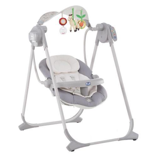 Leagan-balansoar cu vibratii pentru bebelusi Chicco - Polly - 0 luni+ - Centre de activitate copii -