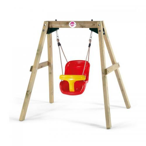 Leagan bebelusi din lemn Baby Swing Plum - Leagane curte -