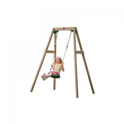 Leagan din lemn copii Single Swing Set Plum - Leagane curte -