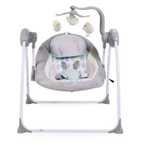 Leagan electric cu conectare la priza Baby Swing+ Grey - Camera copilului - Leagane bebe