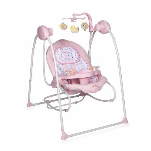 Leagan Tango sistem 2 in 1 electric muzical cu vibratii cu telecomanda Pink - Camera copilului - Leagane bebe