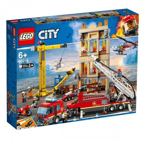 LEGO® City - Divizia pompierilor din centrul orasului (60216) - Lego copii - City