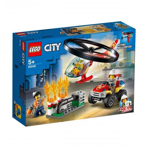 LEGO® City - Interventie cu elicopterul de pompieri (60248) - Lego copii - City