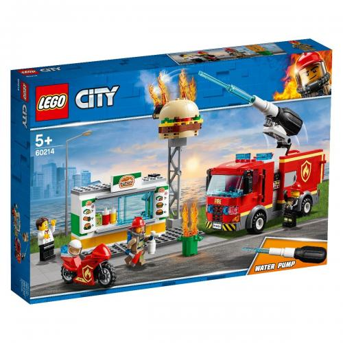 LEGO® City - Stingerea incendiului de la Burger Bar (60214) - Lego copii - City