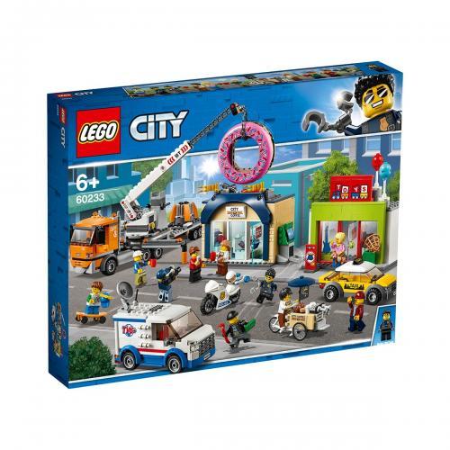 LEGO® City Town - Deschiderea magazinului de gogosi (60233) - Lego copii - City