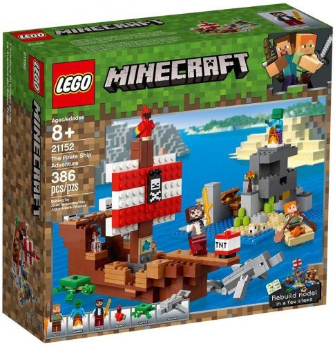 LEGO® Minecraft™ - Aventura corabiei de pirati (21152) - Lego copii - Minecraft