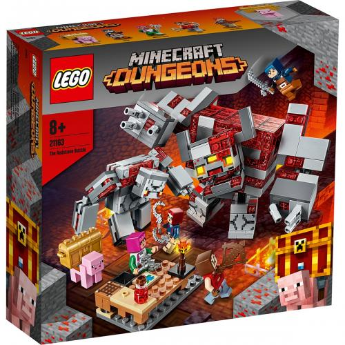 LEGO® Minecraft™ - Batalia pentru piatra rosie (21163) - Lego copii - Minecraft