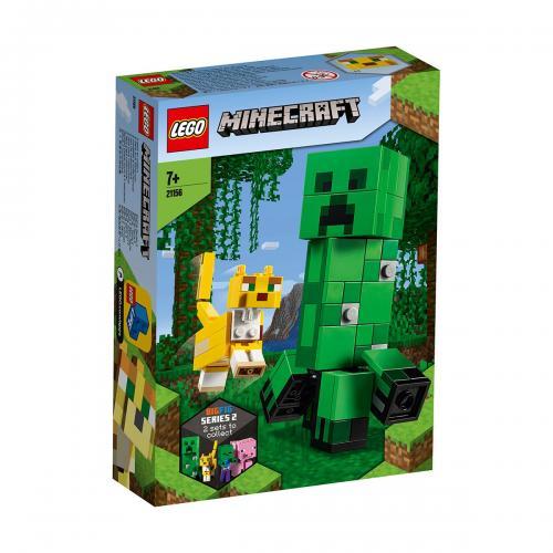 LEGO® Minecraft™ - Creeper BigFig si Ocelot (21156) - Lego copii - Minecraft