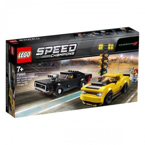 LEGO® Speed Champions - 2018 Dodge Challenger SRT Demon si 1970 Dodge Charger R/T (75893) - Lego copii - Speed Champions