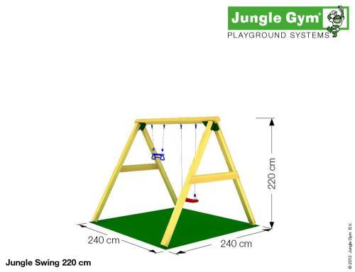 Loc de joaca Jungle Gym Swing - Jucarii de exterior - Spatiu de joaca