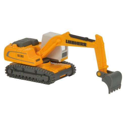 Masinuta constructie excavator cu senile Liebherr Majorette - Masinute copii -