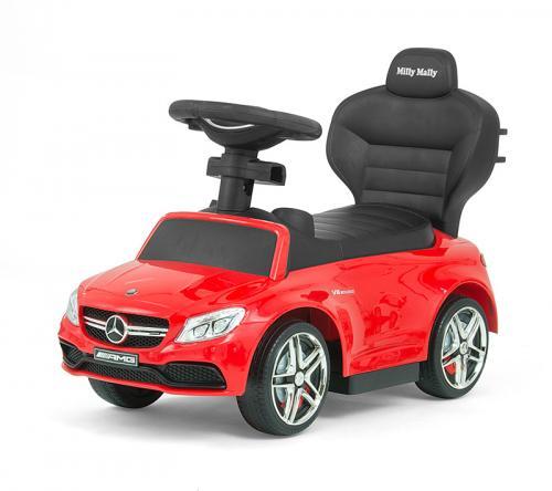 Masinuta copii 3 in 1 Mercedes Amg C63 Red - Vehicule fara pedale -