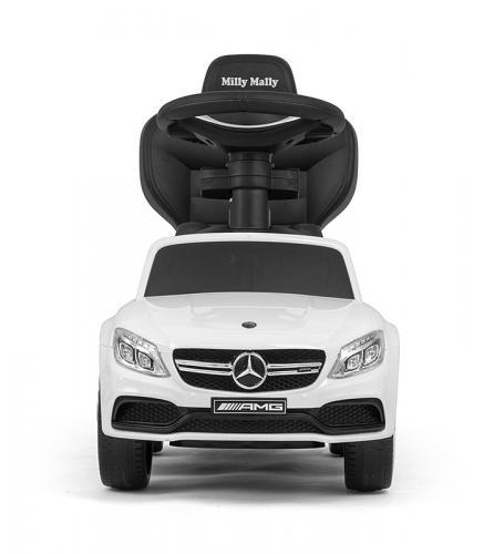 Masinuta copii 3 in 1 Mercedes Amg C63 white - Vehicule fara pedale -