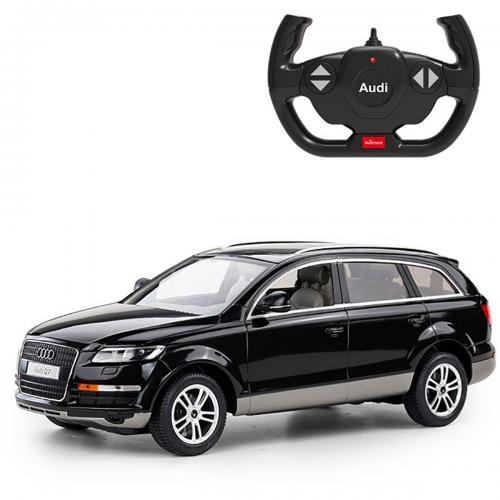 Masinuta cu telecomanda Rastar Audi Q7 - Negru - 1:14 - Masinute electrice -