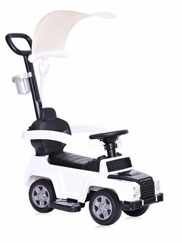 Masinuta de teren X-Treme cu maner parental si copertina white - Vehicule fara pedale -