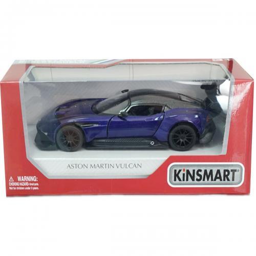 Masinuta din metal Kinsmart - Aston Martin Vulcan - Mov - Masinute copii -