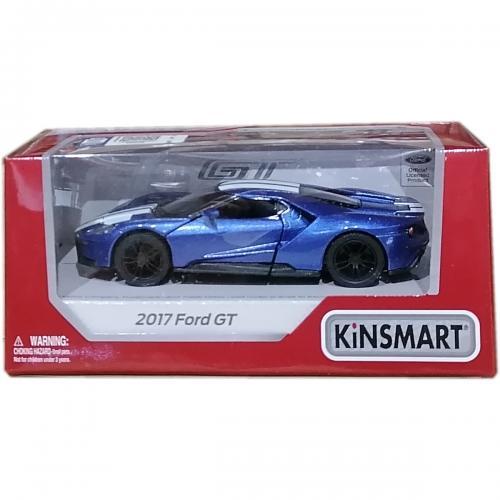 Masinuta din metal Kinsmart - Ford GT 2017 - Albastru - Masinute copii -