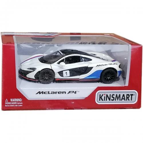 Masinuta din metal Kinsmart - McLaren P1 - Alb - Masinute copii -