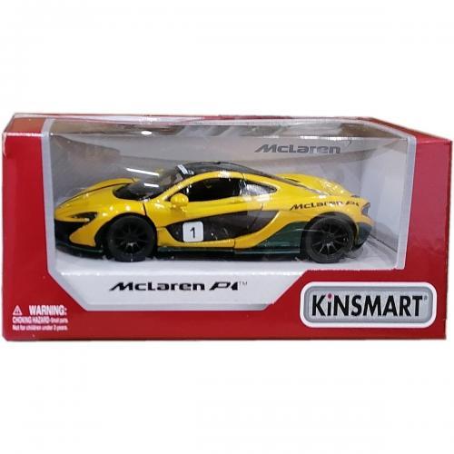 Masinuta din metal Kinsmart - McLaren P1 - Galben - Masinute copii -