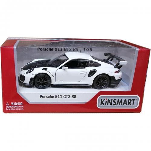 Masinuta din metal Kinsmart - Porsche 911 GT2 RS - Alb - Masinute copii -