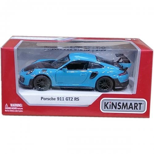 Masinuta din metal Kinsmart - Porsche 911 GT2 RS - Albastru - Masinute copii -