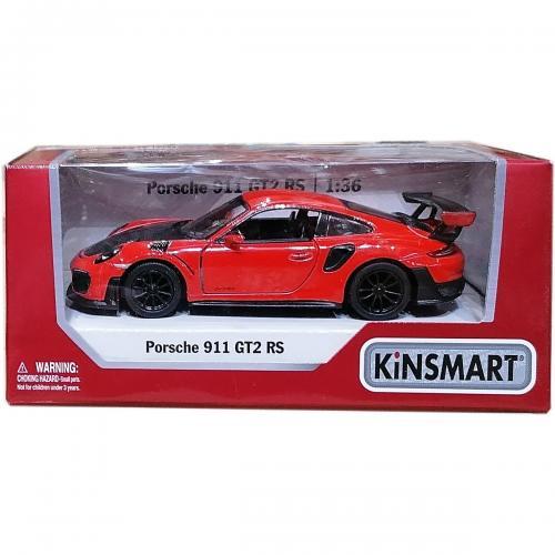 Masinuta din metal Kinsmart - Porsche 911 GT2 RS - Rosu - Masinute copii -