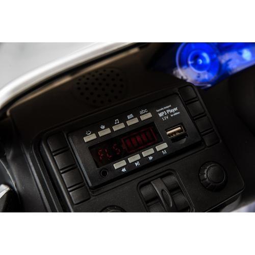 Masinuta electrica cu roti din cauciuc Maserati albastru - Masinute electrice -