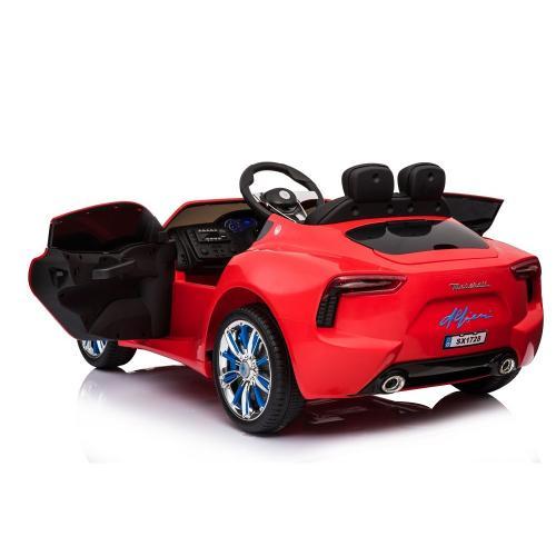 Masinuta electrica cu roti din cauciuc Maserati rosu - Masinute electrice -