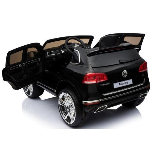 Masinuta electrica cu roti din cauciuc Volkswagen Touareg negru - Masinute electrice -