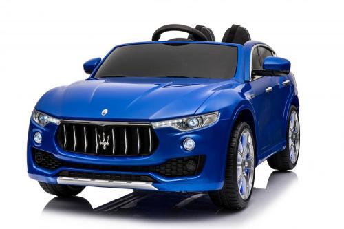 Masinuta electrica Maserati Levante cu scaun de piele si roti de cauciuc Blue - Masinute electrice -