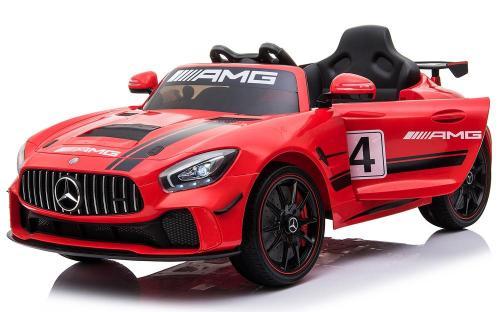 Masinuta electrica Mercedes AMG GTR 4 cu roti din cauciuc Red - Masinute electrice -