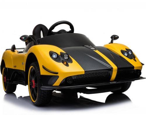 Masinuta electrica Pagani Zonda cu telecomanda si roti din cauciuc Yellow - Masinute electrice -