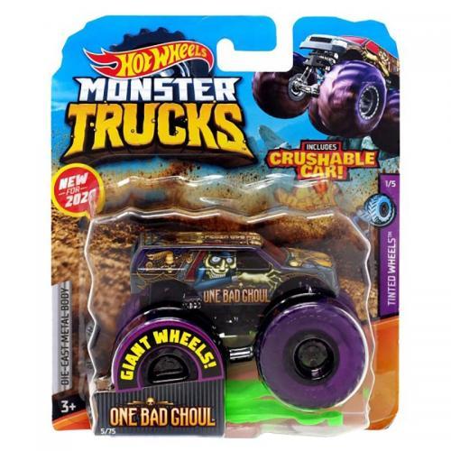 Masinuta Hot Wheels Monster Truck - One Bad Ghoul - GJD93 - Figurine pentru copii -