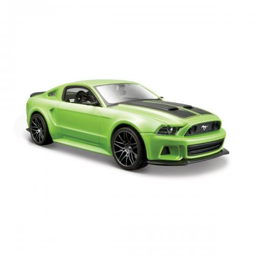 Masinuta Maisto Ford Mustang Street Racer 2014 - 1:24 - Verde - Masinute copii -