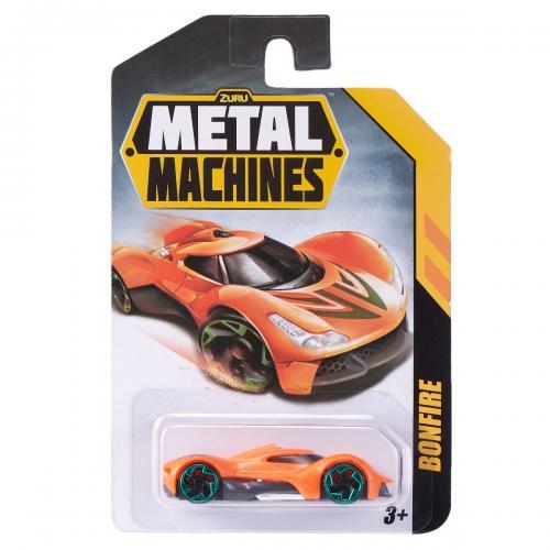 Masinuta Metal Machines Bonfire - 1:64 - Portocaliu - Masinute copii -