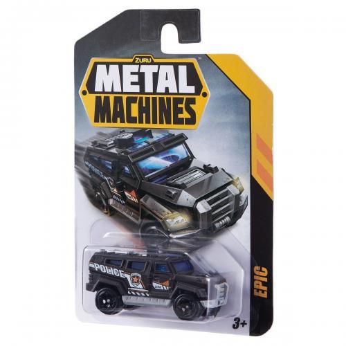 Masinuta Metal Machines Epic - 1:64 - Negru - Masinute copii -
