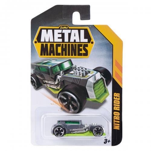 Masinuta Metal Machines Nitro Rider - 1:64 - Gri - Masinute copii -