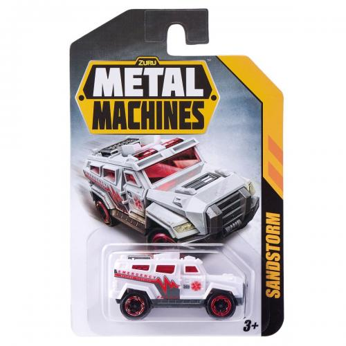 Masinuta Metal Machines Sandstorm - 1:64 - Alb - Masinute copii -