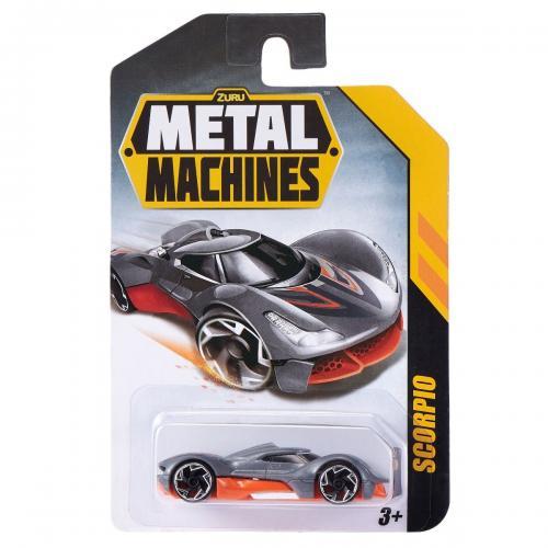 Masinuta Metal Machines Scorpio - 1:64 - Gri - Masinute copii -