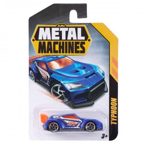 Masinuta Metal Machines Typhoon - 1:64 - Albastru - Masinute copii -