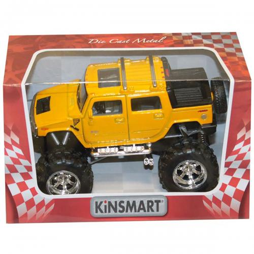 Masinuta metalica de off-road Kinsmart - Hummer - Galben - Masinute copii -
