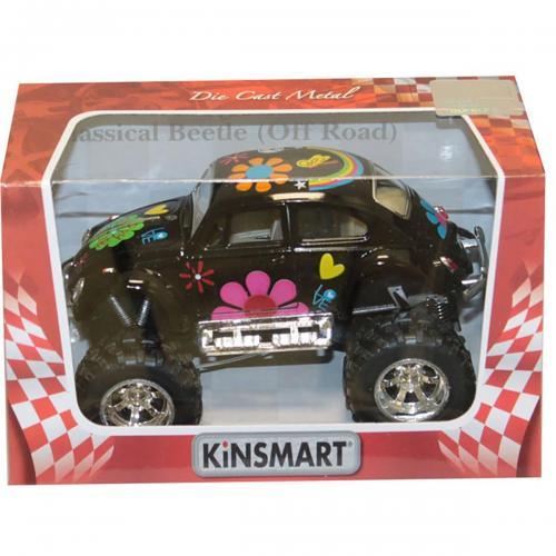 Masinuta metalica de off-road Kinsmart - Volkswagen Beetle - Negru - Masinute copii -
