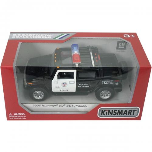 Masinuta metalica de politie Kinsmart - Hummer H2 2005 - Masinute copii -